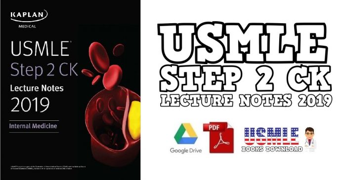 USMLE Step 2 CK Lecture Notes 2019 Internal Medicine PDF