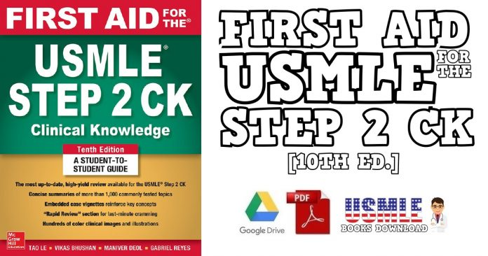 First Aid for the USMLE Step 2 CK 10th Edition PDF
