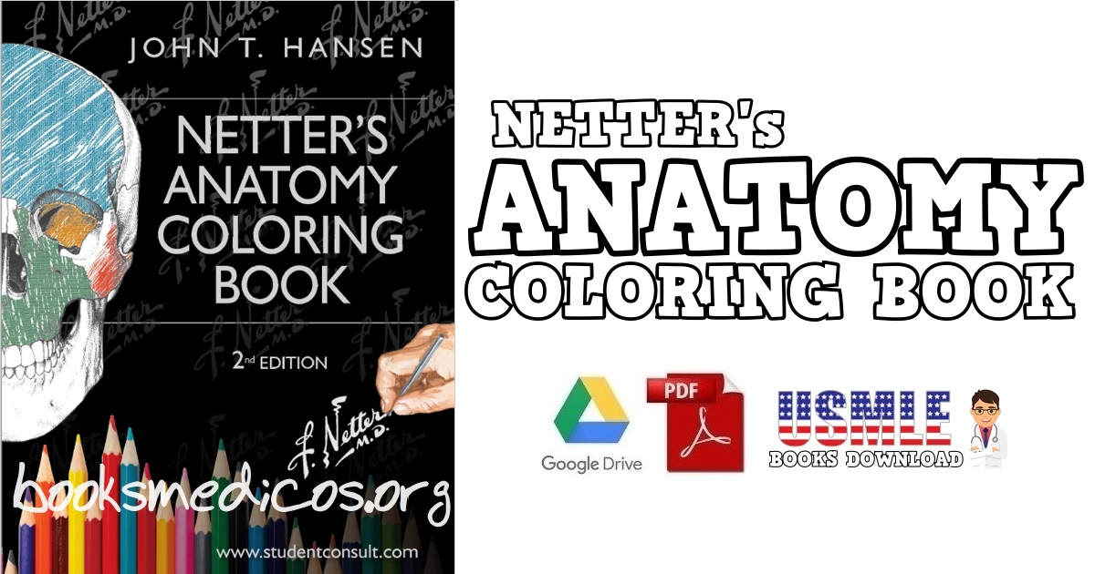 Netter's Anatomy Coloring Book 2nd Edition PDF Free Download