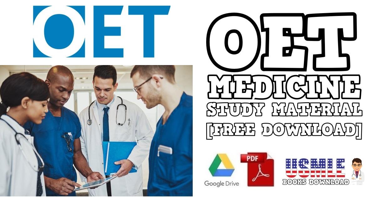 OET Medicine Material for Doctors PDF