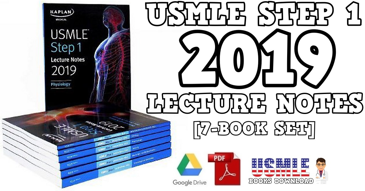 USMLE Step 1 Lecture Notes 2019 7-Book Set PDF Free Download