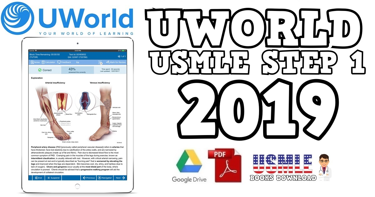 UWorld For USMLE Step 1 2019 PDF