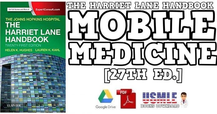 The Harriet Lane Handbook Mobile Medicine Series PDF