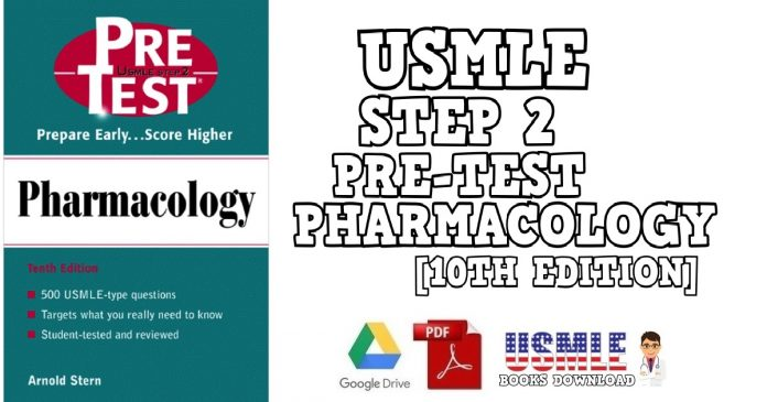 USMLE Step 2 Pre-Test Pharmacology 10th Edition PDF Free Download