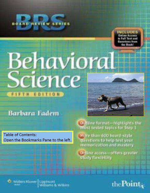 BRS Behavioral Science 5th Edition PDF