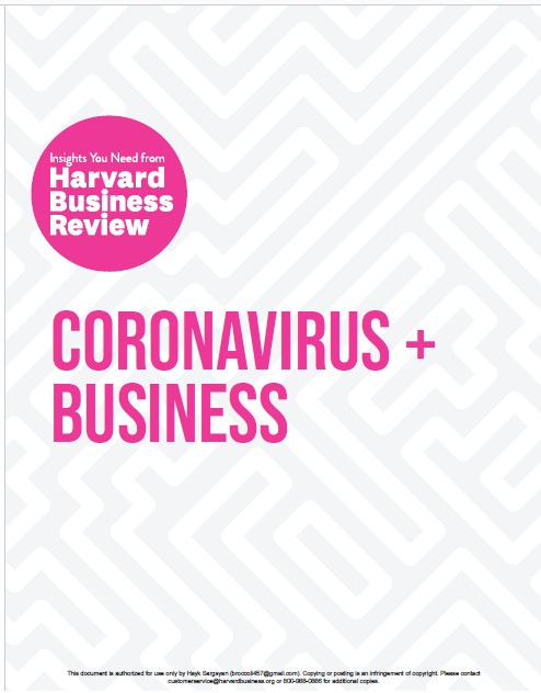 Coronavirus and Business: The Insights You Need from Harvard Business Review PDF