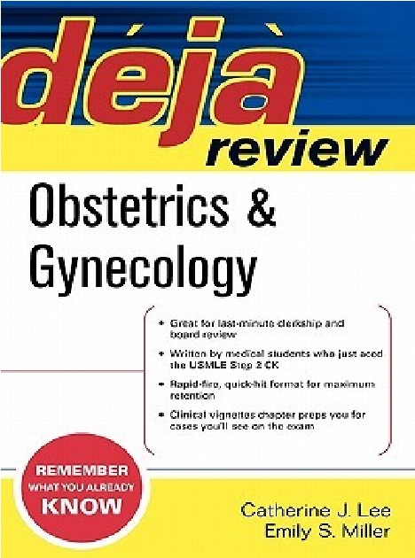 Deja Review Obstetrics & Gynecology PDF
