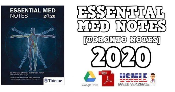 Essential Med Notes (Toronto Notes) 2020 PDF