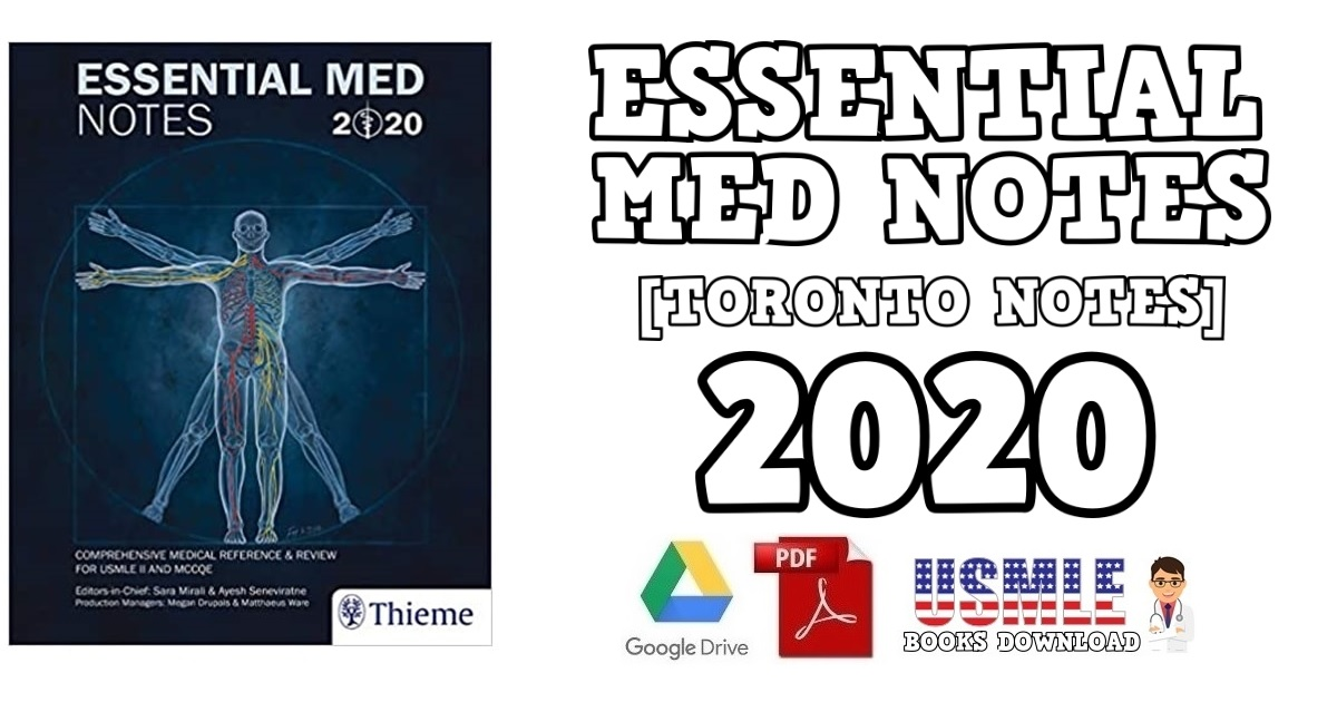 Essential Med Notes (Toronto Notes) 2020 PDF