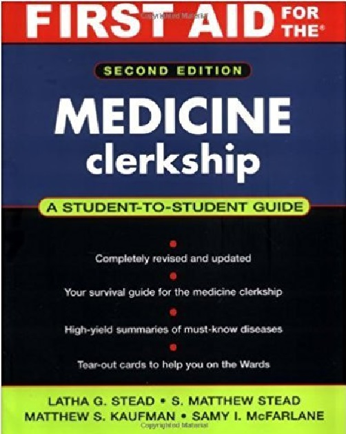 First Aid for the Medicine Clerkship 2nd Edition PDF