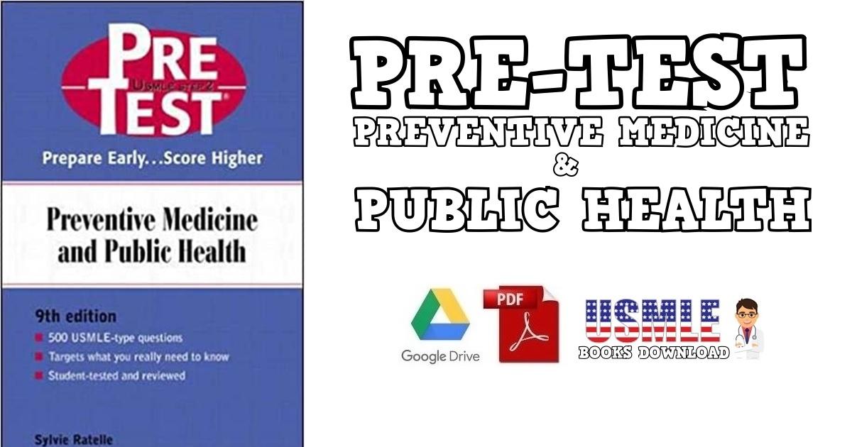 Preventive Medicine and Public Health PreTest 9TH Edition PDF