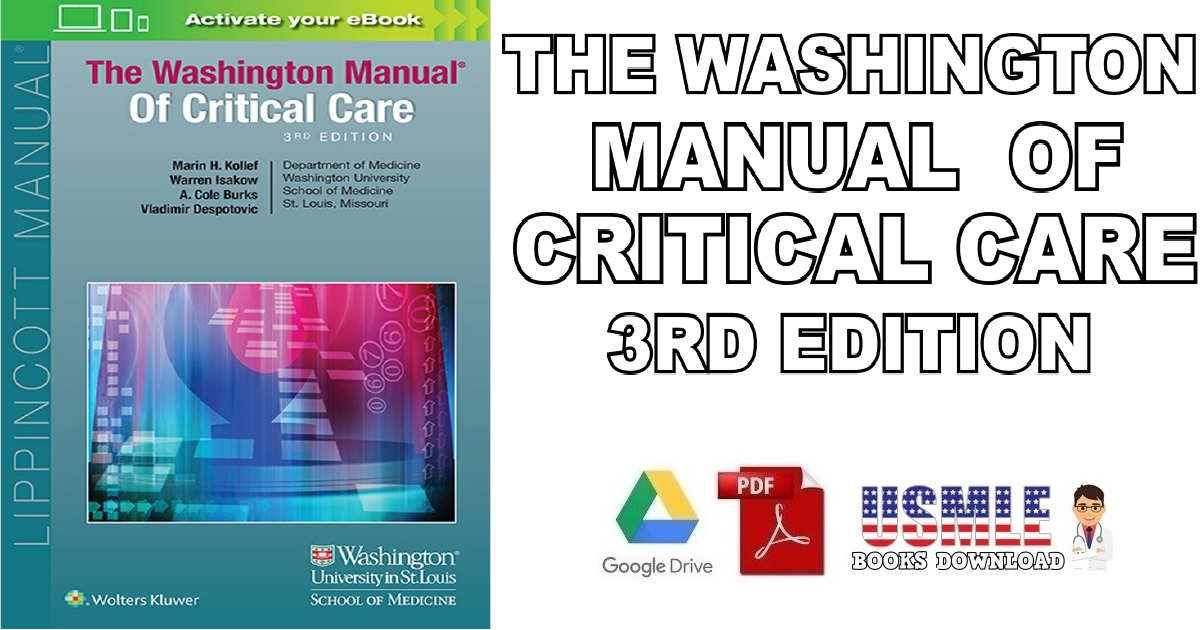 The Washington Manual of Critical Care 3rd Edition PDF