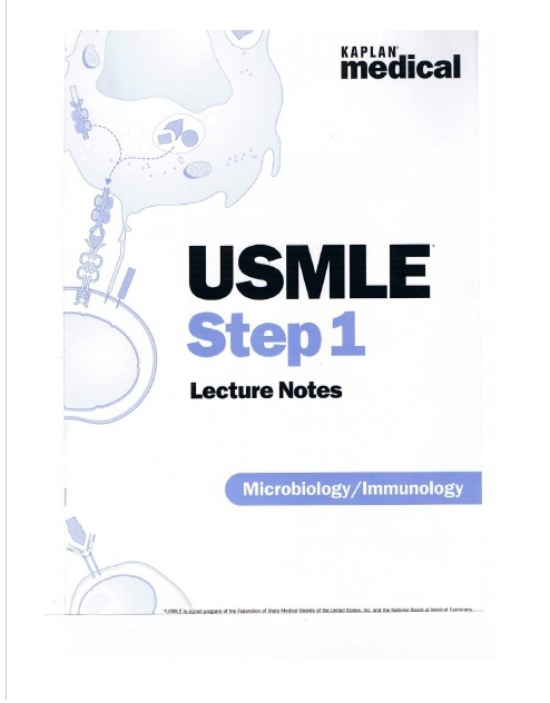 USMLE Step 1 Lecture Notes, Microbiology/Immunology PDF