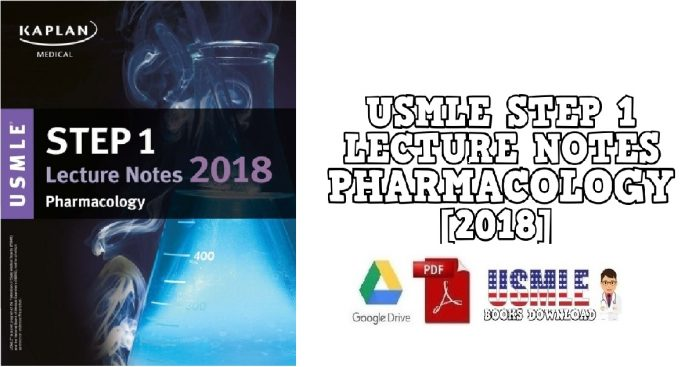 USMLE Step 1 Lecture Notes Pharmacology 2018 PDF Free Download