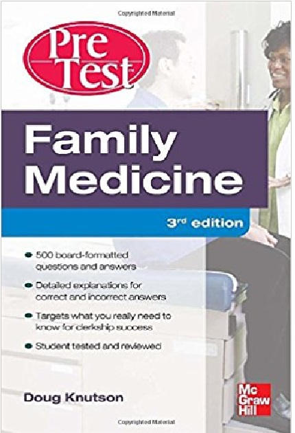 Family Medicine PreTest Self-Assessment and Review 3rd Edition PDF