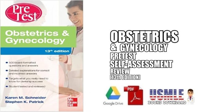 Obstetrics And Gynecology PreTest Self-Assessment and Review 13th Edition PDF